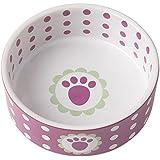 "Pet Rageous 2 Cup Daisy Dots Bowl, 5"", Raspberry"