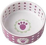 PetRageous 2 Cup Daisy Dots Bowl, 5″, Raspberry For Sale