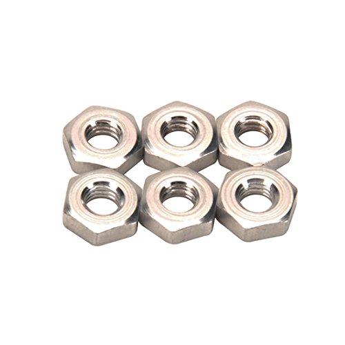 Aluminum Jam Nuts, 10-32 RH, Pack/6 Speedway Motors