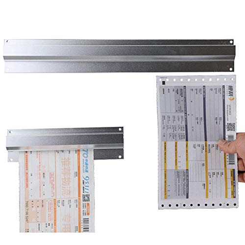 Slide Aluminum Rack Order (Womdee Aluminium Order Tab Grabbers - Wall Mounted Slide Check Rack Aluminum Food Bill Ticket Holder Perfect for Kitchen, Restaurant, Cafe, Pub and Bar - 12 16 20 24 Inch)