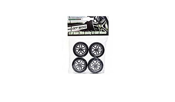 2010 Shelby GT500 Wheels set of 4 tires for 1:18 scale vehicles very hard to get