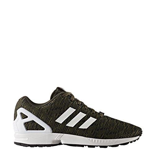 Adidas Original Mens Zx Flux Grafisk Natten Last / Core Svart / Skor Vit 4,5 D Oss