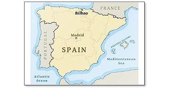 Imán para nevera con mapa de Bilbao en España: Amazon.es: Hogar