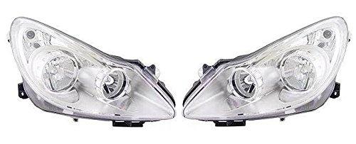 aftermarket Corsa D 2006-2011 Chrome Front Headlight Headlamp Pair Left /& Right