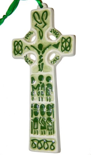 Ceramic Cross Celtic - Ceramic Celtic Crucifixion Cross Wall Hanging