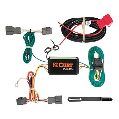 CURT 56184 Vehicle-Side Custom 4-Pin Trailer Wiring Harness for Select Kia Borrego, Hyundai Santa Fe ()