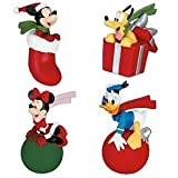 Disney 4 Piece Mickey & Friends Christmas Antenna Toppers - Mickey, Minnie, Donald, & Pluto