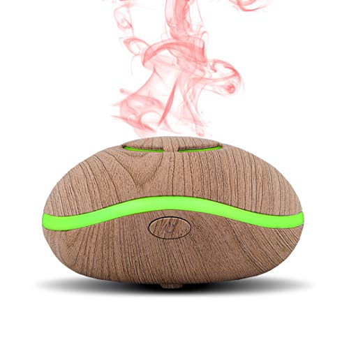 Simply Diffusers Aromatherapy Waterless USB Travel Essential Oil Diffuser with reusable pads | Battery Powered | USB Cord Included | Great for use in the Bathroom, Office Desk or Hotel Room (Wood)