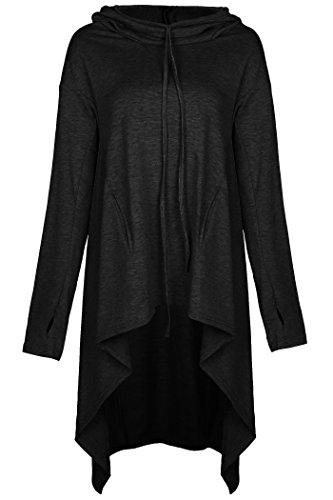 Aifer Women's Asymmetrical Hem Pullover Tunic Tops Loose Hoodies Sweatshirts Dresses