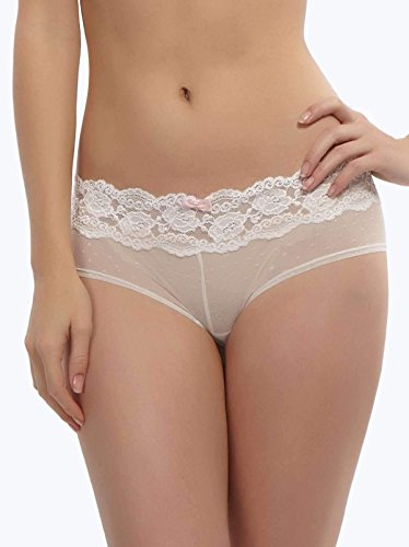 Jezebel Women's Posh Hipster Panty,White,Large