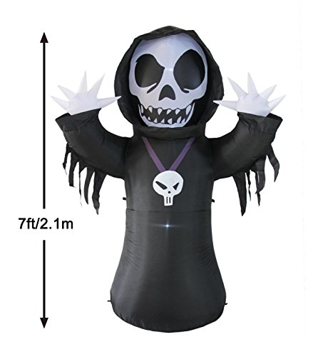 BestParty Halloween Decorations, Inflatable Animated Skeleton Ghost Ideas for Party Yard Outdoor Indoor with LED -