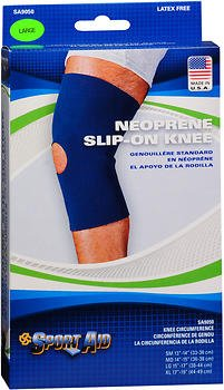 Sport Aid Neoprene Slip-On Knee Support LG - 1 ea., Pack of 2