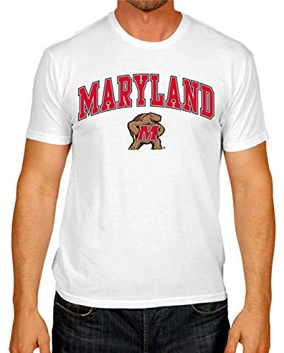 Maryland Tailgate - Campus Colors Maryland Terrapins Arch & Logo Gameday T-Shirt - White, Small