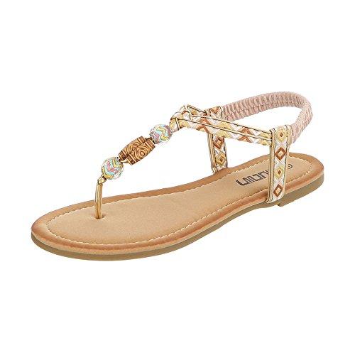 Ital-Design - Zapatos con tacón Mujer beige multicolor