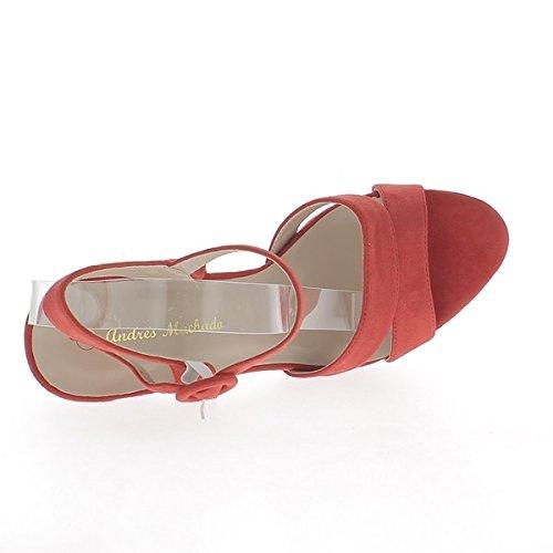 Rote Sandalen Größe 15,5 cm 4,5 cm Effekt Wildleder Plattform zurückrufen