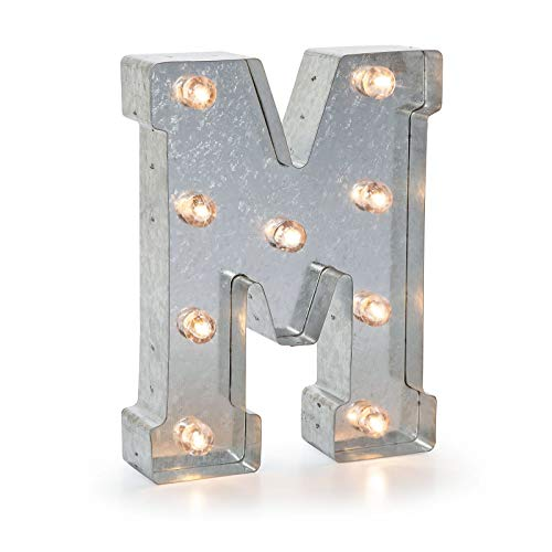 Darice 5915-714 Silver Metal Marquee Letter 9.875