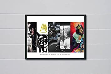 Amazon.com: Robu0027s Tees Custom J Cole History Inspired Pop Art Poster  Hypebeast Posters Pop Culture Wall Art Streetwear Posters (FRAME NOT  INCLUDED) (18x24): ...