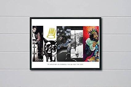 Amazon.com: Rob\'s Tees Custom J Cole History Inspired Pop Art Poster ...