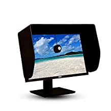 iLooker 24-inch Pro Edition LCD LED Video Monitor Hood Sunshade Sunhood for Dell HP Viewsonic Philips Samsung LG EIZO NEC ASUS ACER BENQ AOC LENOVO, Fits Monitor Frame Width 550-565mm