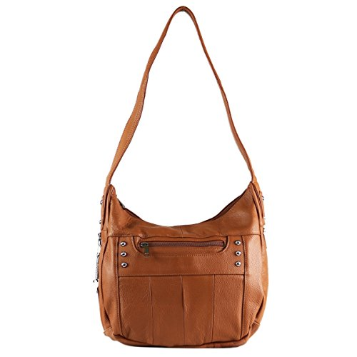 concealed Carry Purse - Pocket Hobo Gun Purse by Roma Leathers (Light Brown)