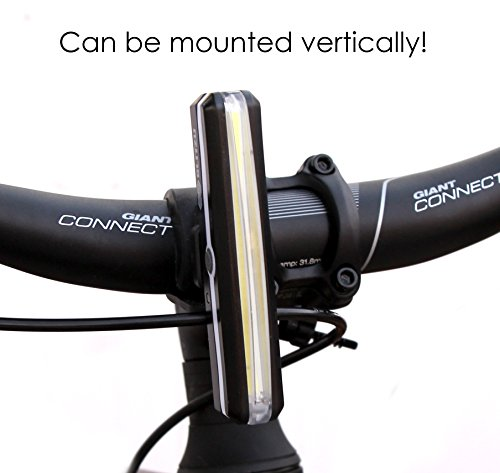 BLITZU Cyborg 168H USB Rechargeable Headlight Super Bright Bike Light - Helmet Front Light Accessories. High Intensity LED Fits on Any Bicycles. Easy to Install for Cycling Safety Flashlight