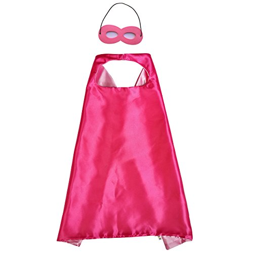 Double Sided Stain Teens or Adults Cape with Mask to DIY Dress up Costumes in The Party -
