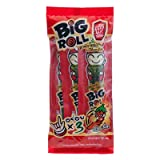 Tao Kae Noi : Big Roll Grilled Seaweed Japanese Style Spicy Flavor 12 g (3 Rolls) Best Seller of Thailand (Pack of 3)