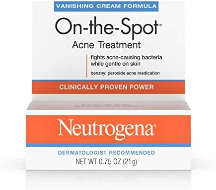 Neutrogena On-The-Spot Acne Treatment Vanishing Cream Formula 0.75 oz (Pack of 2)