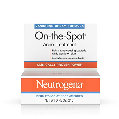 Neutrogena On-The-Spot Acne Treatment Vanishing Cream Formula 0.75 oz (Pack of 5) (The Best Acne Treatment On The Market)