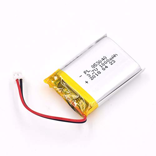 (3.7V 1000mAh 853040 Lipo battery Rechargeable Lithium Polymer ion Battery Pack with JST Connector)