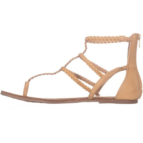 Light Sandals Casual American Open Strappy Rag amadora Toe Womens Natural 1qTfOxS