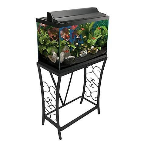 Aquatic Fundamentals 20 gallon Scroll Aquarium Stand, Black