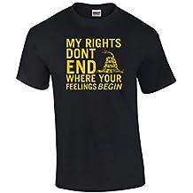 Trenz Shirt Company Rights Don't End Where Feelings Begin 2nd Amendment Adult T-Shirt