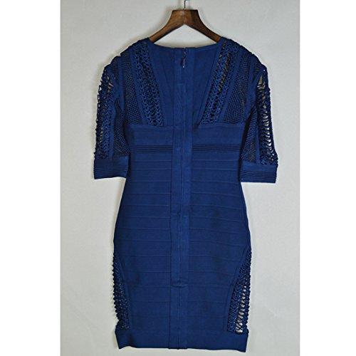 weiß Kleid Damen schwarz Dunkelblau HLBCBG XS 4FwfqS5x