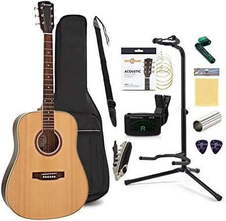 Set Completo de Guitarra Acustica Dreadnought Hartwood: Amazon.es ...