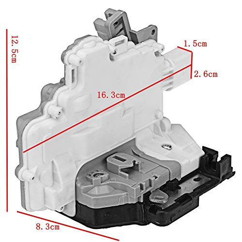Ensun Door Lock Latch Actuator Rear Right Passenger Side (7 Pin) for VW Passat B6 AUDI A4 A5 Q5 Q7 TT Replace# 3C4839016B 8K0839016