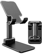 حامل قابل للتعديل والطي بالكامل للتثبيت على سطح المكتب متوافق مع للتابلت وموبايلات ايفون 11 وX وXR وXS MAX وجميع الموبايلات الذكية والايباد وكيندل من اي ووك