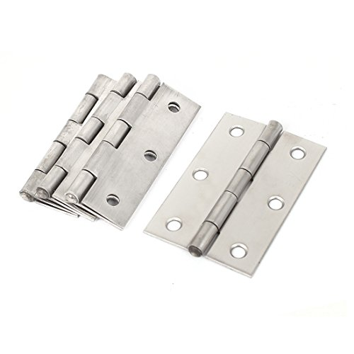 (uxcell Cabinet Gate Closet Door 3-inch Long Stainless Steel Hinge 4pcs)