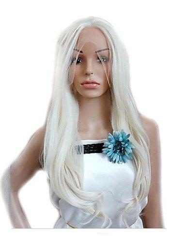 Wi&Lit precio barato cosplay blanco pelucas sintéticas de onda larga , white