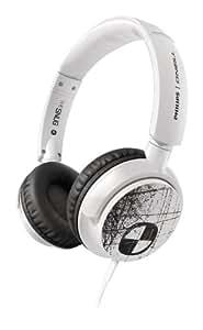 Philips SHO4300WT O'Neill The Snug - Auriculares de diadema (con función extra bajos), color blanco