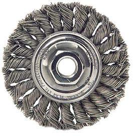 Radnor 4 X M - 10 X 1 1/4 Stainless Steel Knot Wire Wheel Brush (7 Pack)