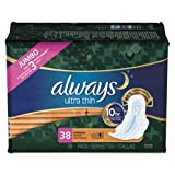 Always 95236 Ultra Thin Overnight Pad with Wing (Pack of 228)