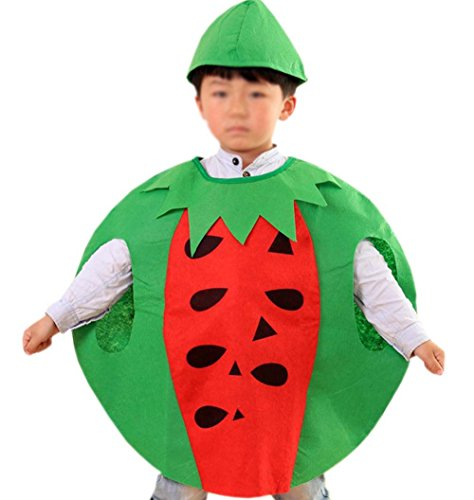 ANDES Child Party Clothing Watermelon Costume Suit for Halloween Holidy (Watermelon)