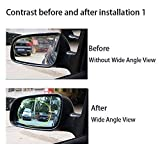 Side Rearview Heated Mirror Blue Glass Lens Fit For