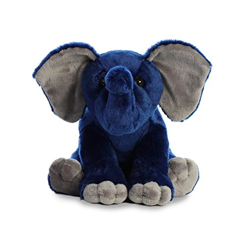 Blue Elephant Stuffed Animal (Aurora World Elephant Destination Nation,)