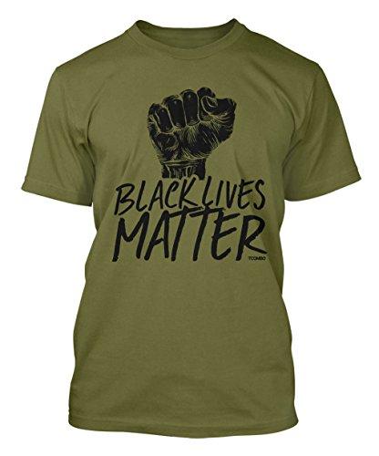 Black Lives Matter Men's T-shirt (Large, OLIVE GREEN)