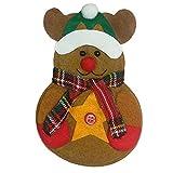PENGYGY Christmas Cutlery Holder Fork Spoon Pocket Christmas Decor Bag Home Decor