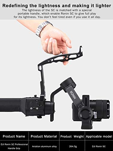 OUYAWEI Top for Ulanzi DH12 Handheld Hand Grip Camera Stabilizer Gimbal for DJI Ronin SC Mount Handle Holder Grip