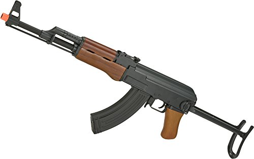 Evike CYMA Full Metal CM042-S AK47-S Airsoft AEG Rifle with Folding Stock - Real Wood