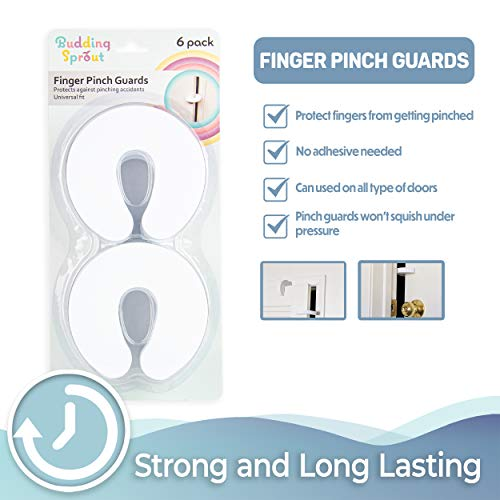 41QNu49jzJL Tough Door Pinch Guards (6-Pack) Slick Design, Child Safety, Finger Pinch Protectors.    Product Description